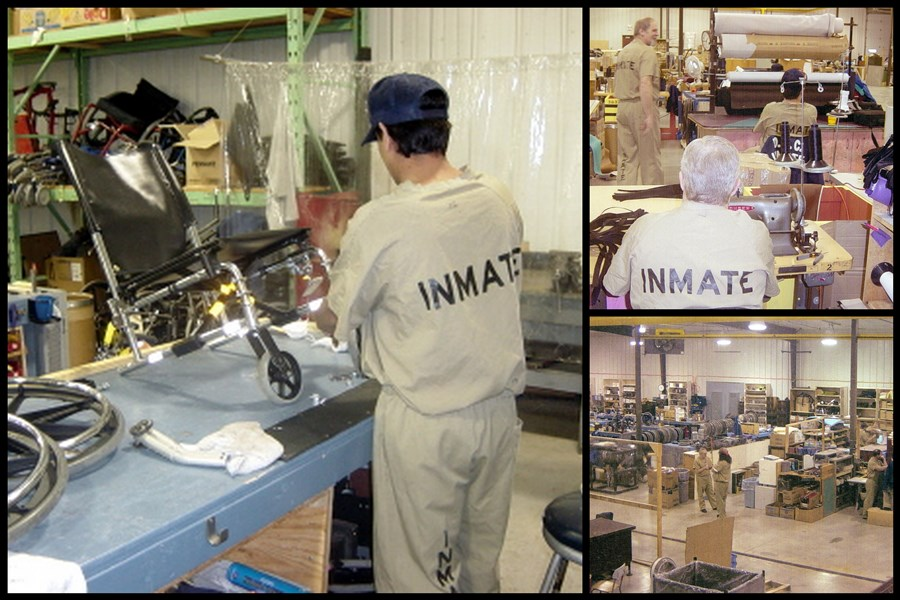 Inmates Refurbishing Chairs